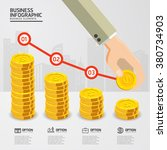 infographic falling price for... | Shutterstock .eps vector #380734903