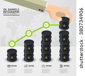 infographic oil barrels and a... | Shutterstock .eps vector #380734906