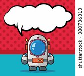 astronaut doodle  speech bubble   Shutterstock .eps vector #380736313
