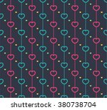 seamless love hearts. endless... | Shutterstock .eps vector #380738704