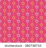 seamless pattern with love... | Shutterstock .eps vector #380738710