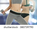 woman body and training time... | Shutterstock . vector #380739790