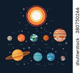 cool flat illustration solar... | Shutterstock .eps vector #380750266
