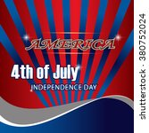 usa 4th july background. | Shutterstock .eps vector #380752024
