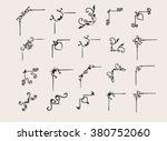 corner decoration. hand drawn... | Shutterstock .eps vector #380752060
