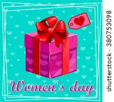 8 march. women's day greeting...   Shutterstock .eps vector #380753098