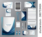 white identity template with... | Shutterstock .eps vector #380753404
