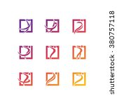 abstract people icons | Shutterstock .eps vector #380757118