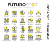 Stroke Line Icons Set Of Futur...