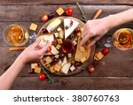 different kinds of cheese on... | Shutterstock . vector #380760763
