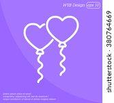web line icon. balloons. | Shutterstock .eps vector #380764669