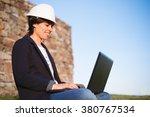 young engineer woman... | Shutterstock . vector #380767534
