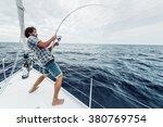 Young Man Fishing Hard In Open...