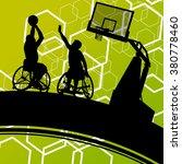 active healthy disabled men... | Shutterstock .eps vector #380778460