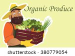 bearded farmer or gardener in a ... | Shutterstock .eps vector #380779054