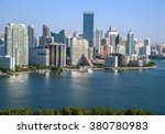 aerial view of miami skyline... | Shutterstock . vector #380780983