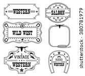 western vintage labels isolated ...   Shutterstock .eps vector #380781979