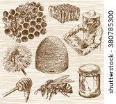 Honey. Beehive And Honey....