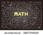 hand drawn mathematics formulas ... | Shutterstock .eps vector #380794069