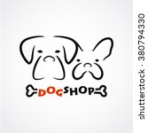 abstract dog shop logotype with ...   Shutterstock .eps vector #380794330