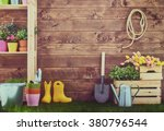 Gardening Tools And On The...