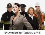 firefighter police officer... | Shutterstock . vector #380801746
