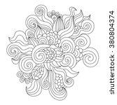 hand drawn zentangle element.... | Shutterstock .eps vector #380804374