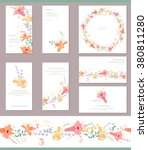 floral spring templates with... | Shutterstock .eps vector #380811280
