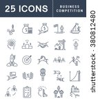 set vector line icons with open ... | Shutterstock .eps vector #380812480