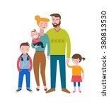 happy family  making fun ... | Shutterstock .eps vector #380813530