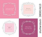 filigree paper cut frames. can... | Shutterstock .eps vector #380814613