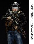 portrait  soldier or private... | Shutterstock . vector #380822836