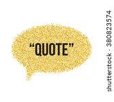 golden sand speech bubble icon... | Shutterstock .eps vector #380823574