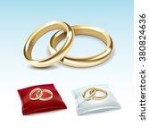 vector set of gold wedding...   Shutterstock .eps vector #380824636