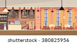 modern cafe interior empty flat ... | Shutterstock .eps vector #380825956