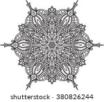 abstract vector round lace... | Shutterstock .eps vector #380826244