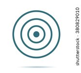 blue target icon isolated on...