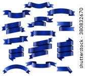 blue web ribbons set  vector... | Shutterstock .eps vector #380832670
