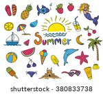 vector illustration of summer... | Shutterstock .eps vector #380833738