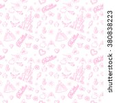 princess seamless pattern for... | Shutterstock .eps vector #380838223