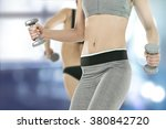 blurred blue space and fitness... | Shutterstock . vector #380842720