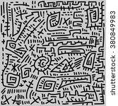 vector doodle line pattern... | Shutterstock .eps vector #380849983