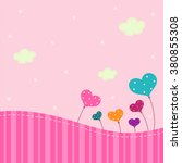 pretty pink background with... | Shutterstock .eps vector #380855308