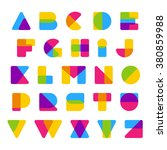 vector colorful alphabet made... | Shutterstock .eps vector #380859988