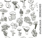 set  collection  of mushrooms... | Shutterstock .eps vector #380860483