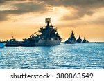 military navy ships in a sea... | Shutterstock . vector #380863549