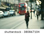 blurred people  street of london   Shutterstock . vector #380867104