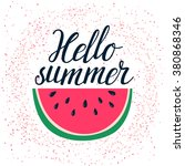 vector summer background with... | Shutterstock .eps vector #380868346