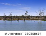 Flat Flooded Outback Land In...