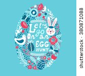 vector easter background with... | Shutterstock .eps vector #380871088